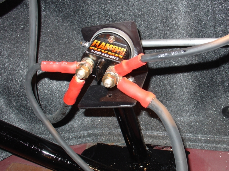 Nhra Running Battery Cable Inside Car
