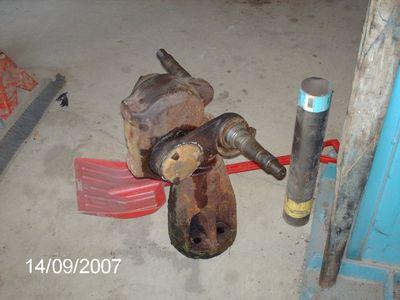 pics of Franks pet Tractor resto project